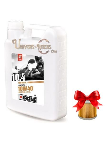 Huile moteur  Ipone 10.4 10W40 Synthétique 4T (4 litres)