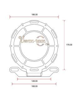 Grille de protection acier avant pour phare moto (universel) Style B