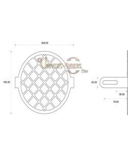 Grille de protection acier avant pour phare moto (universel) Style D