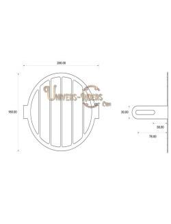 Grille de protection acier avant pour phare moto (universel) Style E