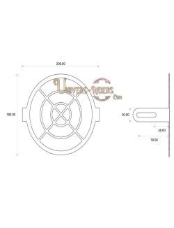 Grille de protection acier avant pour phare moto (universel) Style F