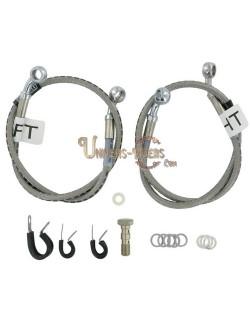 kit durites de frein avant moto Cycleflex pour Honda CBR 600 F4-F4i 1999-2006