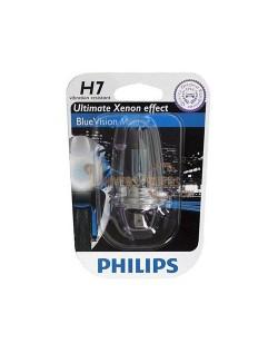 Ampoule moto Philips H7 Blue Vision 12V 55W PX26D