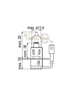 Ampoule moto Philips H3 Vision 12V- 55W