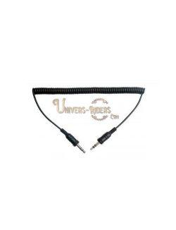 Câble audio stéréo 3,5 mm pour Sena  SR10 (droit)