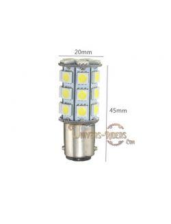 Ampoule LED 1157 SMD (stop/veilleuse) 180° blanc