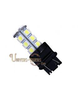 Ampoule LED 3157 SMD (stop/veilleuse) culot plat blanc
