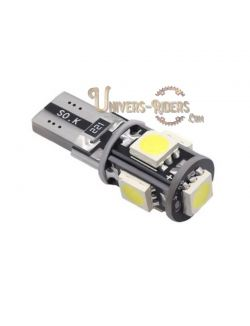 Ampoule veilleuse LED T10W 55 SMD Anti- erreur blanc (can-bus)