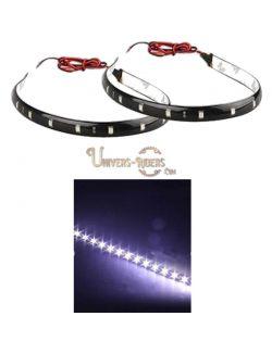 Flexible LED étanche avec autocollant 3M blanc 30 cm