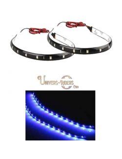 Flexible LED étanche avec autocollant 3M Bleu 30 cm
