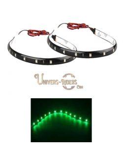 Flexible LED étanche avec autocollant 3M Vert 30 cm