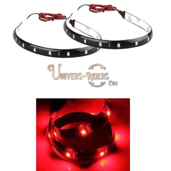 Flexible LED étanche avec autocollant 3M Rouge 30 cm