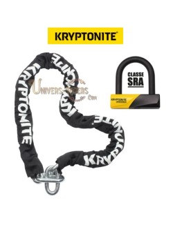 Antivol U moto KRYPTONITE 99 mm + Chaine 150 cm Homologué SRA