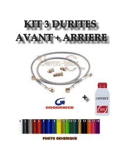 Kit durites de frein AV et AR Goodridge Honda CBF 500 ABS 2005-2007