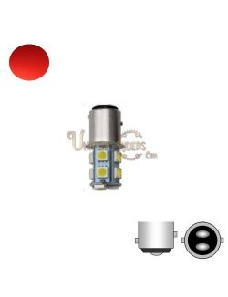 Ampoule LED SMD 1157 Rouge (Stop / Veilleuse) 180°