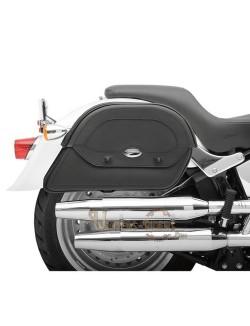Sacoches Customisées moto cuir Saddlemen Slants Cruis N Grande Taille