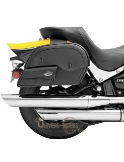 Sacoches Latérales moto cuir Saddlemen Slants Cruis N avec poche avant Grand taille