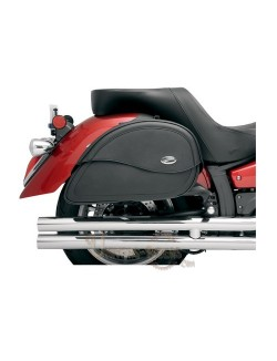 Sacoches Latérales moto cuir Saddlemen Cruis N TEARDROP Grande Taille