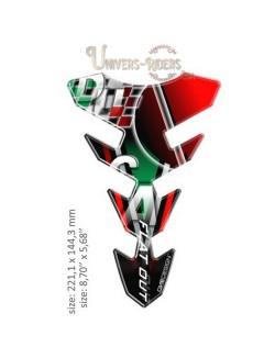 Protection réservoir moto autocollant en résine Ducati 221x144mm