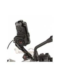 Support de telephone chaft reglable au retroviseur moto avec chargeur