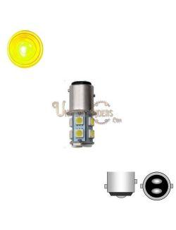 Ampoule LED SMD 1157 Orange (Stop / Veilleuse / Clignotants) 120°