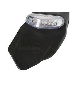 Bavette arrière universelle avec feu arrière Transparent LED