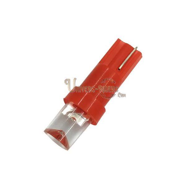 Ampoule LED T5W Rouge 1W 12V (compteur / Tableau bord / interieur)