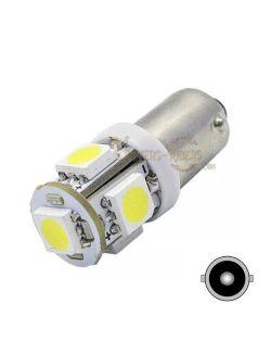 Ampoule LED BA9S T4W SMD 5050 Blanc 180° (plaque d'immatriculation)