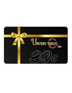 Carte cadeau Univers-riders valeur 20€