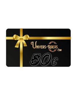 Carte cadeau Univers-riders valeur 50€