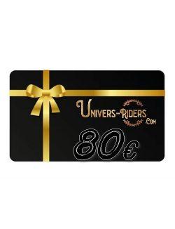 Carte cadeau Univers-riders valeur 80€