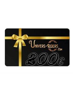 Carte cadeau Univers-riders valeur 200€