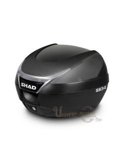 Top case moto SHAD SH34 litres Carbone
