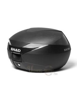 Top case moto SHAD SH39 litres Cabone