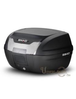 Top case moto SHAD SH40 litres Noir brut