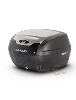 Top case moto SHAD SH40 litres Alu