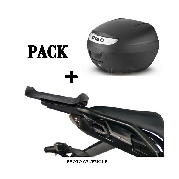 Pack Top case moto SHAD + support fixation pour Benelli Leoncino 250 2019-2021