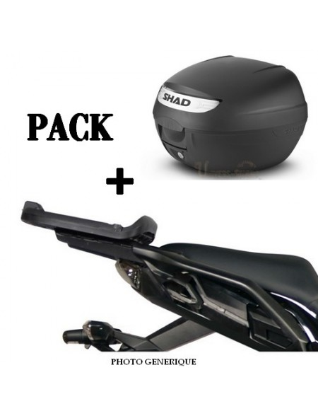 Pack Top case moto SHAD + support fixation pour Benelli BN 251 2016-2021