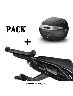Pack Top case moto SHAD + support fixation pour Benelli TRK 502 X 2020-2021