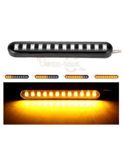 Flexibles LED avec autocollant 3M Clignotants Séquentiels 8 cm