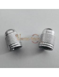 Bouchons de valves Bubble Argent (paire)