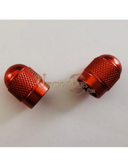 Bouchons de valves Bubble Rouge (paire)