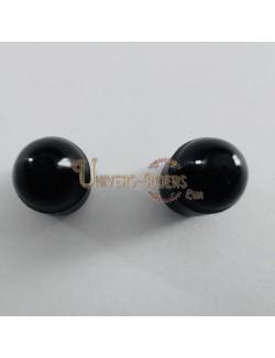Bouchons de valves Bubble Noir  (paire)