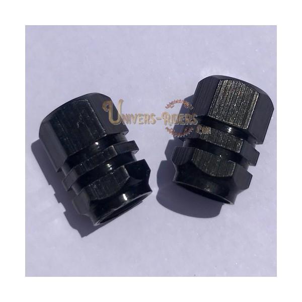 Bouchons de valves Simba Noir  (paire)