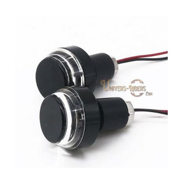 Embouts de guidons Punta LED noir Universels clignotants et veilleuse