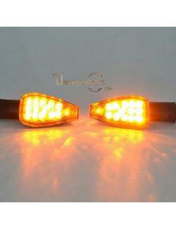 Clignotants Speed LED Noir (Fumé) Universels