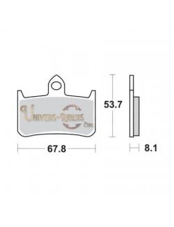 Plaquettes de Frein Avant pour Honda CBR 900 R 1992-1997 SBS 622HF
