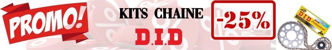 Kit chaine moto DID -20%