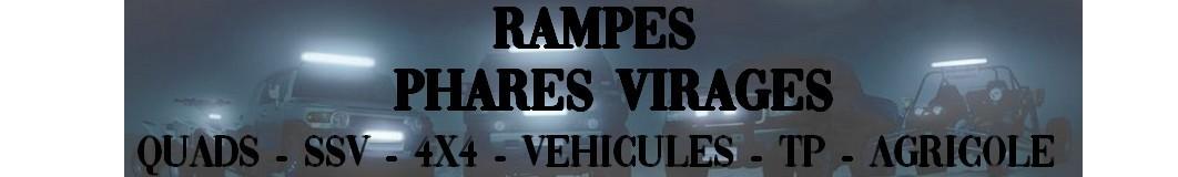 Rampes LED pour Quads, SSV, 4X4, Vehicules Agricoles, travaux public