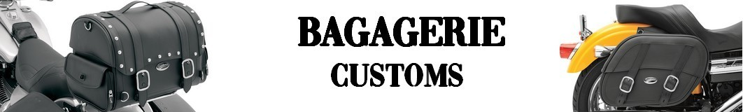 Bagagerie Cuir pour Moto Customs